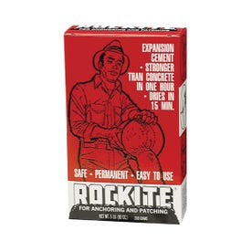 Rockite 10005 Expansion Cement, Powder, White, 1 hr Curing, 5 lb Box