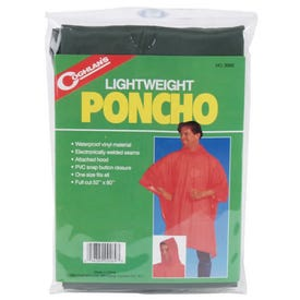 BOSS 61 Poncho with Hood, Vinyl, Clear, Attached Collar