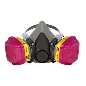 3M 62023HA1-C Dual-Cartridge Respirator, M Mask, P100 Filter Class, Dual Cartridge