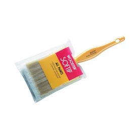 WOOSTER Q3108-2-1/2 Paint Brush, 2-1/2 in W, 2-7/16 in L Bristle, Nylon/Polyester Bristle, Beaver Tail Handle