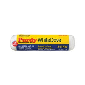 Purdy White Dove 144670092 Paint Roller Cover, 3/8 in Thick Nap, 9 in L, Woven Dralon Fabric Cover