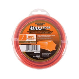 ARNOLD Maxi Edge WLM-95 Trimmer Line, 0.095 in Dia, 40 ft L, Polymer, Red