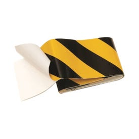 HY-KO TAPE-1 Reflective Safety Tape, 24 in L, 2 in W, Vinyl Backing, Black/Yellow