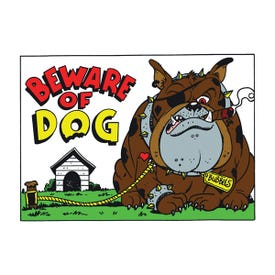 HY-KO 20542 Novelty Sign, BEWARE OF DOG, Red/Yellow Legend, 14 in L x 10 in W Dimensions