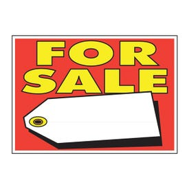 HY-KO 22103 Sign, For Sale, Yellow Legend, Plastic, 9 in W x 14 in H Dimensions