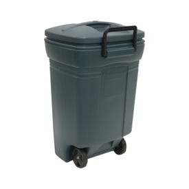 United Solutions RM134501 Trash Can, 45 gal Capacity, Plastic, Green, Snap-Fit Lid Closure