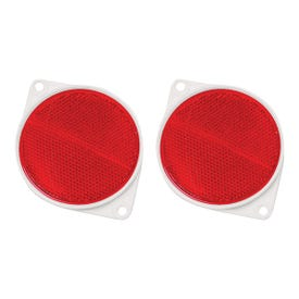 HY-KO CDRF-3R Carded Reflector, 9.63 in L Post, Red Reflector