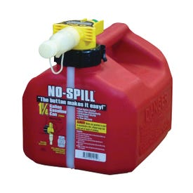 No-Spill 1415 Gas Can, 1.25 gal Capacity, Plastic, Red