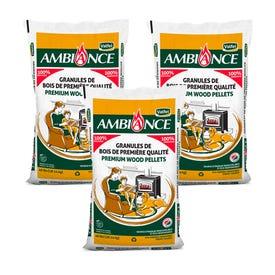 AMBIANCE Wood Pellets 100%  HARDWOOD 1 Ton