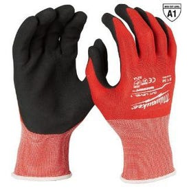 Milwaukee 48-22-8902 Gloves, Unisex, L, 7.53 to 7.73 in L, Nitrile, Red