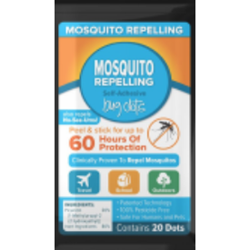 Layer One Mosquito Repellent Stick On Dots