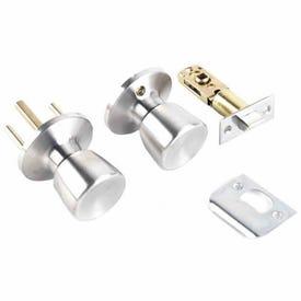 Tell Manufacturing RL100794 Passage Door Lock, Knob Handle, Metal, Satin Nickel, 2-3/8, 2-3/4 in Backset