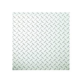 Stanley Hardware 4220BC Series 316356 Tread Plate Sheet, 24 in W, 24 in L, Aluminum, Polished