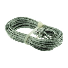 Prime-Line GD 52183 Aircraft Cable, 1/8 in Dia, 8 ft 6 in L, Carbon Steel, Galvanized