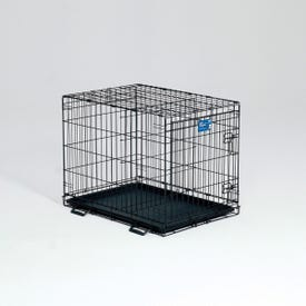 Life Stages 1630 Dog Crate, 30 in OAL, 21 in OAW, 24 in OAH, Electro-Coated, Black