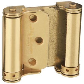 National Hardware N115-303 Spring Hinge, 0.056 in Thick Frame Leaf, Cold Rolled Steel, Brass, Removable Pin