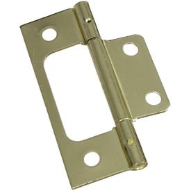National Hardware V530 Series N146-951 Door Hinge, Steel, Brass, Removable Pin, Surface Mounting, 25 lb