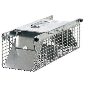 Victor 1025 Animal Trap, 7.22 in W, 5.76 in H, Spring-Loaded Door