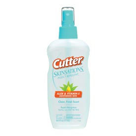 Cutter SKINSATIONS 54010-6 Insect Repellent, 6 fl-oz Bottle, Liquid, Water White, Alcohol