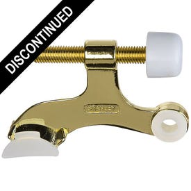 National Hardware S807-479 Hinge-Pin Door Stop, Die-Cast Zinc, Polished Brass