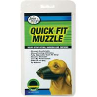 Four Paws 100203677 Quick Fit Muzzle, 3, M Breed, Buckle Fastening, Nylon Mesh, Black