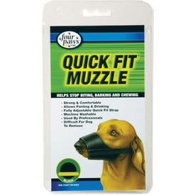 Four Paws 100203678 Quick Fit Muzzle, 3XL, M Breed, Boxer Breed, Buckle Fastening, Nylon Mesh, Black