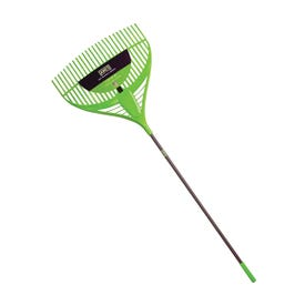 AMES Collector Series 2915806 Leaf Rake, 26-Tine, 74-1/8 in OAL, Poly Tine, Steel Handle
