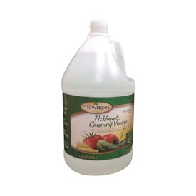 Mrs. Wages W654-B3425 Distilled Pickling and Canning Vinegar, 1 gal Can