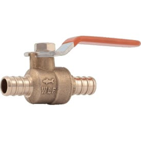 SharkBite 22461LF Ball Valve, 3/4 in Connection, 80 to 160 psi Pressure, Brass Body