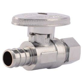 SharkBite 23057LF Stop Valve, 1/2 x 3/8 in Connection, Compression, 80 to 160 psi Pressure, Brass Body