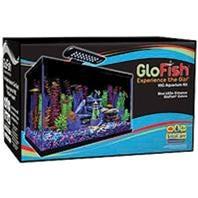 Perfecto NV33121 Glofish Aquarium Kit, 10 gal Capacity, Black