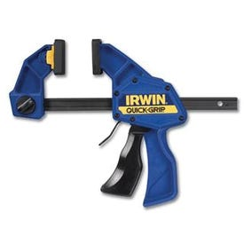 IRWIN QUICK-GRIP SL300 Series 512QCN Bar Clamp/Spreader, 300 lb, 12 in Max Opening Size, 3-1/4 in D Throat