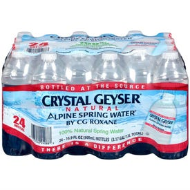 Crystal Geyser 24088-0 Spring Water, 16.9 oz Bottle