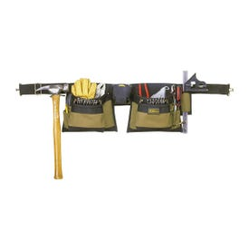 CLC Tool Works 1429 Tool Apron, 29 to 46 in Waist, Polyester, Brown, 12 -Pocket
