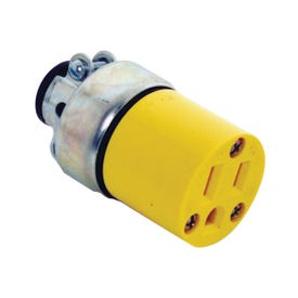 Eaton Wiring Devices WD2887 Electrical Connector, 2-Pole, 15 A, 125 V, NEMA: 5-15, Yellow