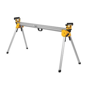 DeWALT DWX723 Miter Saw Stand, 500 lb, 151 in W Stand, 32 in H Stand, Aluminum, Black/Yellow