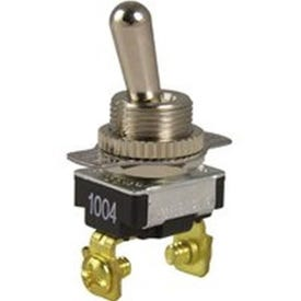 GB GSW-17 Toggle Switch, 120/240 VAC, SPST, Screw Terminal, Steel Housing Material