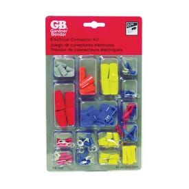 GB TK-100 Wire Connector Kit, Solderless, Assorted, For: 22 to 10 AWG Wire, 100-Piece
