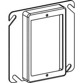 RACO 8768 Box Cover, 5/8 in L, 4 in W, Square, 1-Gang, Steel, Gray