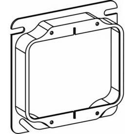 RACO 8769 Box Cover, 5/8 in L, 4 in W, Square, 2-Gang, Steel, Gray