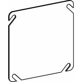 RACO 8752 Box Cover, 0.063 in L, 4.06 in W, Square, 2-Gang, Steel, Gray, Pre-Galvanized