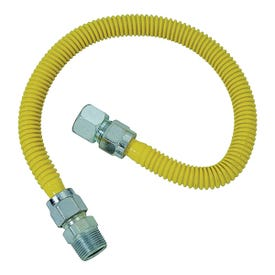 BrassCraft ProCoat CSSC54-48P Gas Connector, 1/2 in Inlet, 1/2 in Outlet, 48 in L