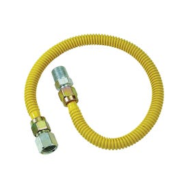 BrassCraft ProCoat CSSD54-36P Gas Connector, 1/2 in Inlet, 1/2 in Outlet, 36 in L