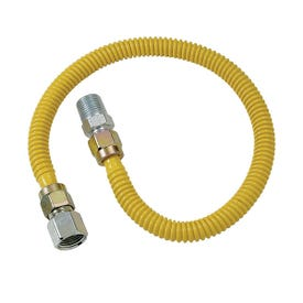 BrassCraft ProCoat CSSD54-48P Gas Connector, 1/2 in Inlet, 1/2 in Outlet, 48 in L