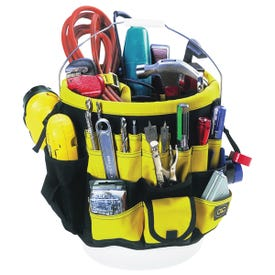 CLC Tool Works 4122 Bucket Tool Organizer, 61 -Compartment, Rip-Stop Fabric, Black/Yellow