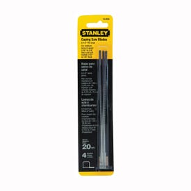STANLEY 15-059 Coping Saw Blade, 6-1/4 in L, 20 TPI, HCS Cutting Edge
