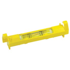 STANLEY 42-193 Line Level, 3-3/32 in L, 1 -Vial, 2 -Hang Hole, ABS, Yellow
