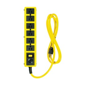CCI 5139N Power Outlet Strip, 6 ft L Cable, 6-Socket, 15 A, 125 V, Yellow
