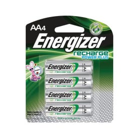 Energizer NH15BP-4 Rechargeable Battery, 1.2 V Battery, 2300 mAh, AA Battery, Nickel-Metal Hydride, Black