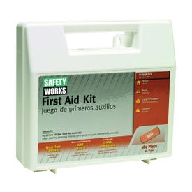 SAFETY WORKS 10049585 First Aid Kit, 160-Piece, Plastic